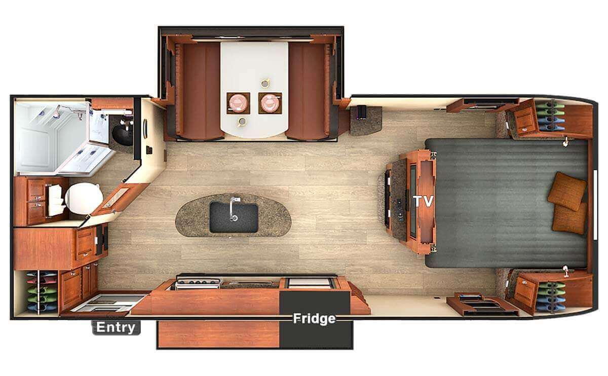 Lance travel trailers ultra light weight trailers for Travel trailer bathroom ideas