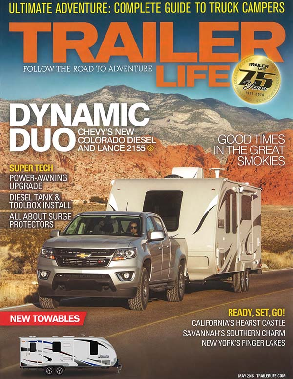 2155 rave review in Trailer Life Magazine.
