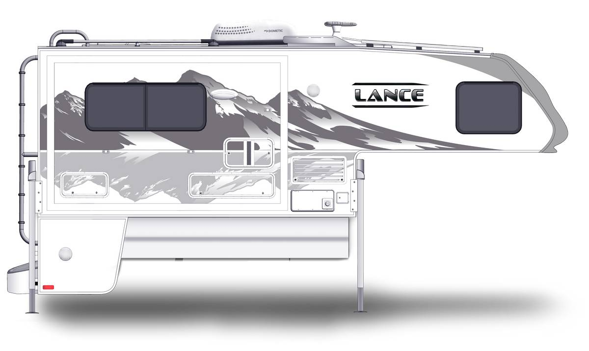 Lance 1062 Shown With Optional Mountain Scene Graphics.