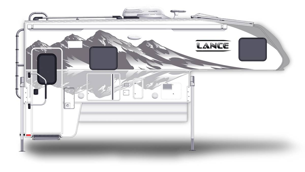 Lance 1172 Shown With Optional Mountain Scene Graphics.