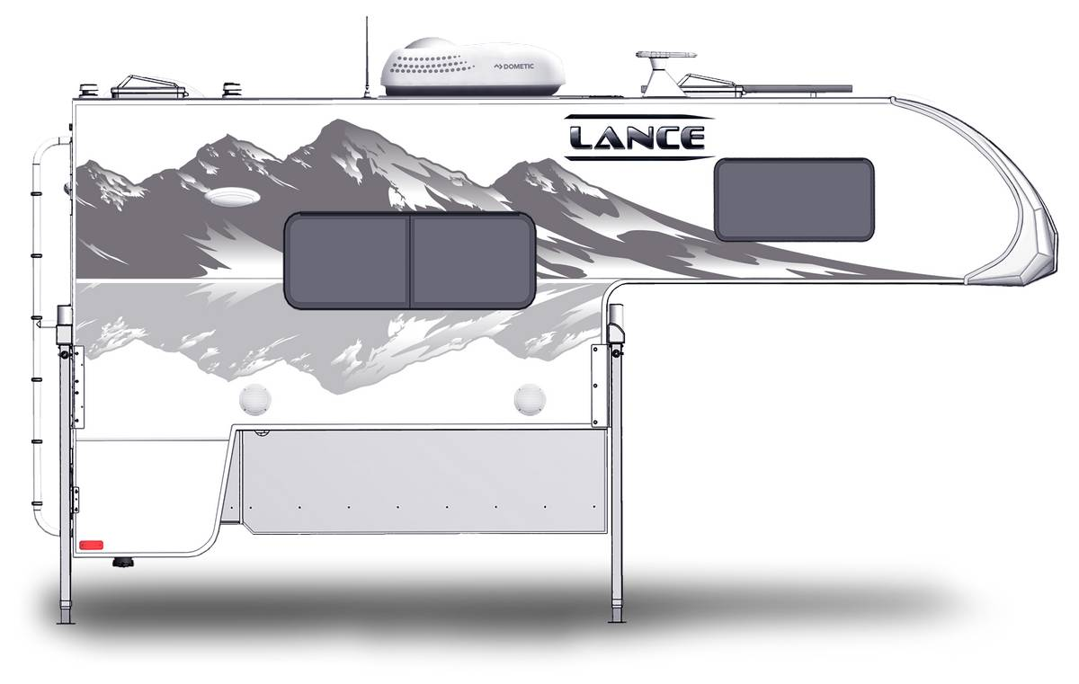 Lance 825 Shown With Optional Mountain Scene Graphics.