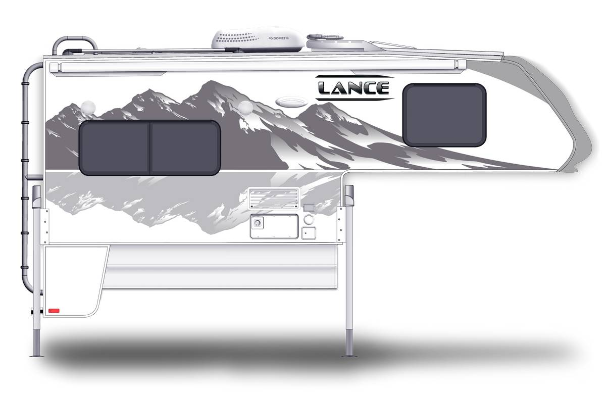 Lance 850 Shown With Optional Mountain Scene Graphics.