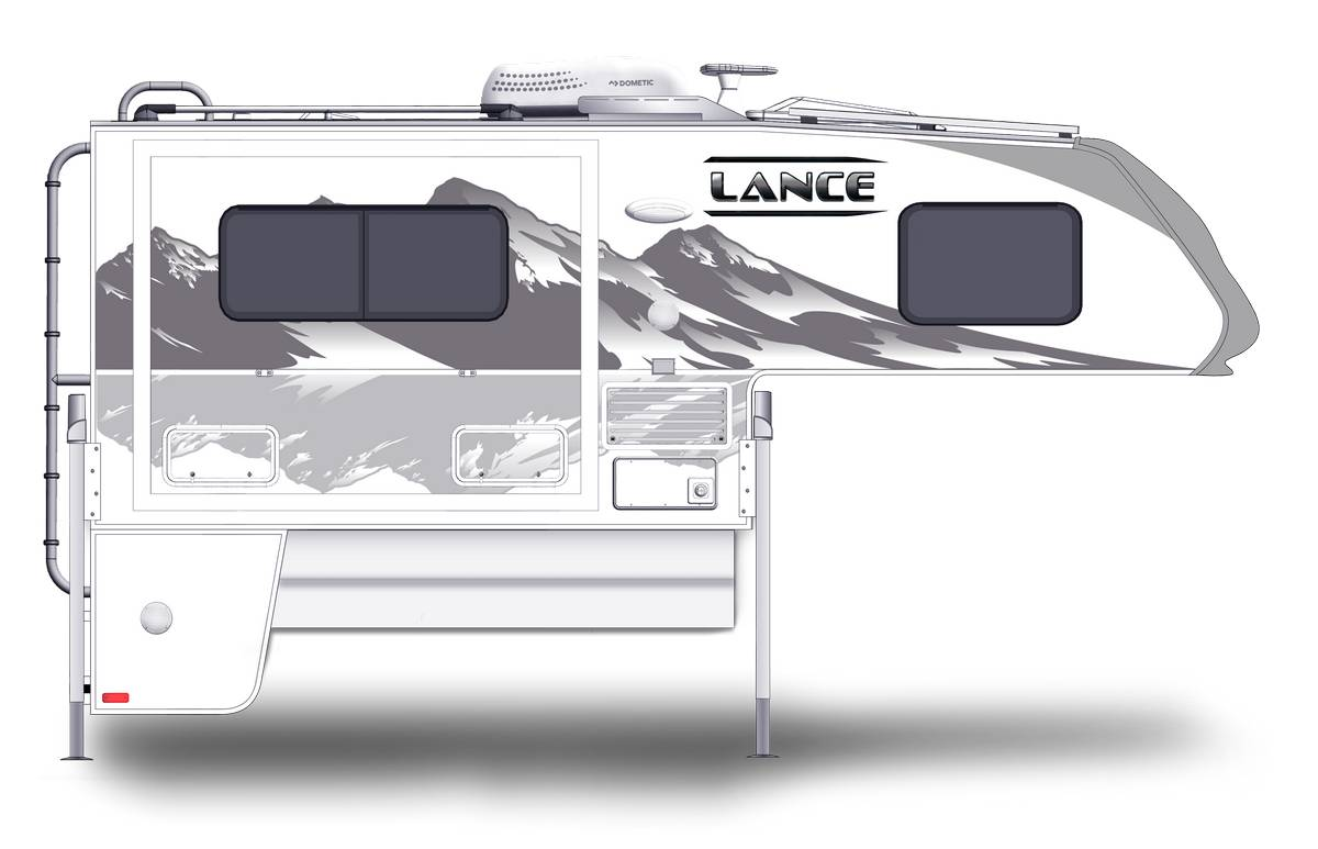 Lance 855s Shown With Optional Mountain Scene Graphics.