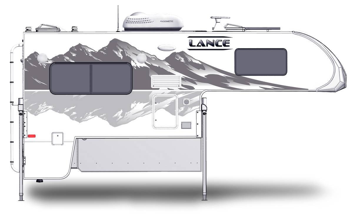Lance 865 Shown With Optional Mountain Scene Graphics.