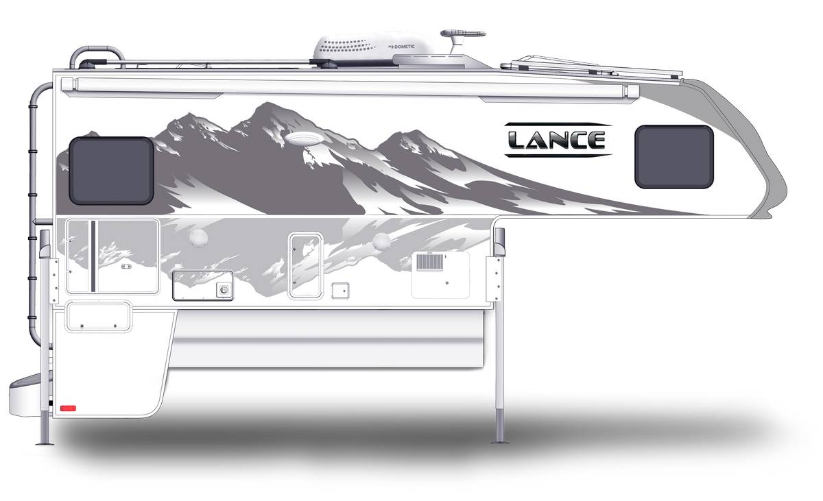 Lance 975 Shown With Optional Mountain Scene Graphics.