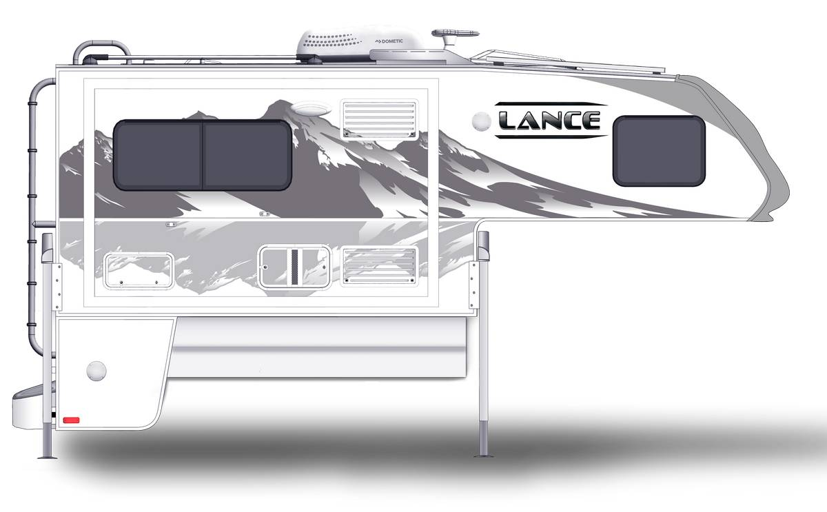Lance 995 Shown With Optional Mountain Scene Graphics.