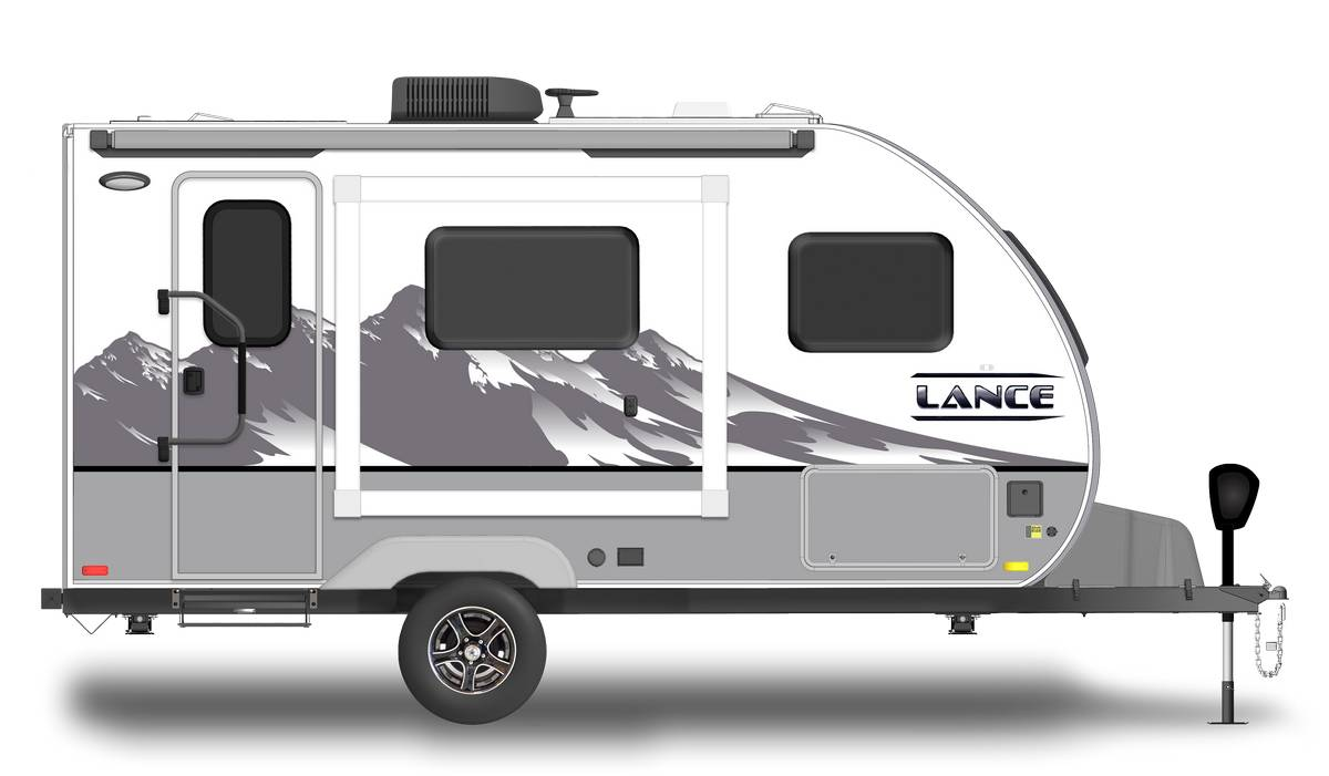 Lance 1475S Shown With Optional Mountain Scene Graphics.