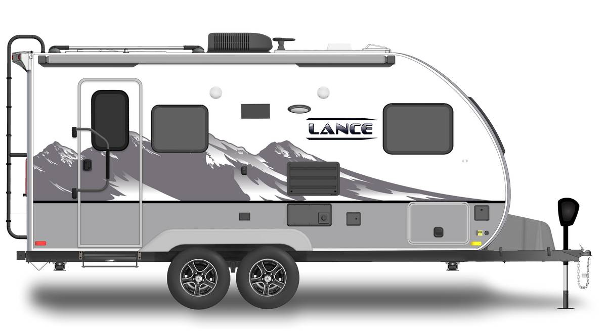 Lance 1685 Shown With Optional Mountain Scene Graphics.