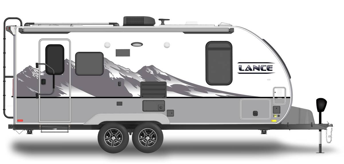 Lance 19955 Shown With Optional Mountain Scene Graphics.