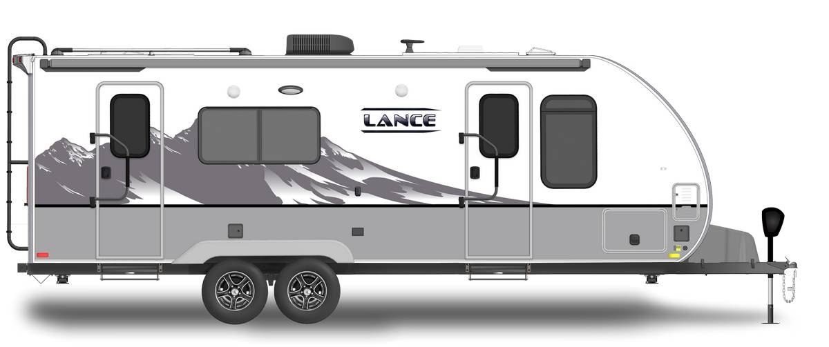 Lance 2285 Shown With Optional Mountain Scene Graphics.