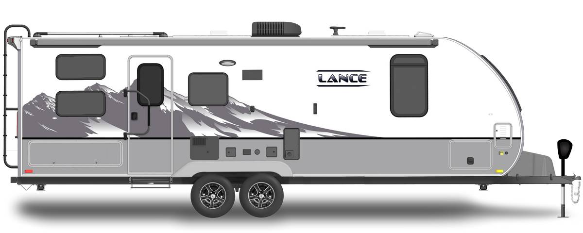 Lance 2445 Shown With Optional Mountain Scene Graphics.