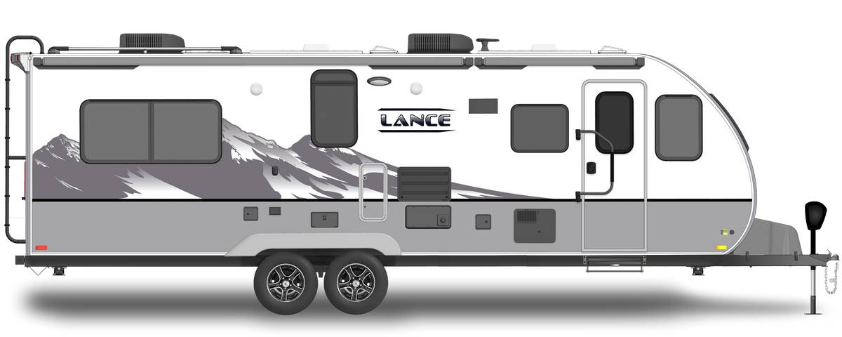 Lance 2465 Shown With Optional Mountain Scene Graphics.
